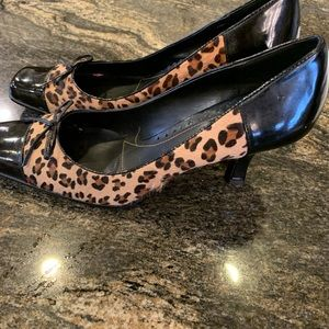 Franco Sarto animal print shoes